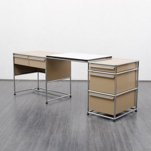 klassischer schreibtisch von usm haller f r fritz hansen. Black Bedroom Furniture Sets. Home Design Ideas