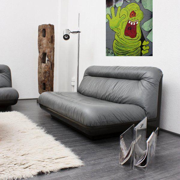 vintage 2 seater lounge sofa by gerd lange 1970s for sale. Black Bedroom Furniture Sets. Home Design Ideas