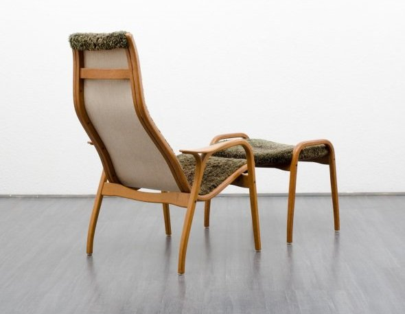 Lamino Chair and Ottoman by Yngve Ekström for Swedese, 1952 for sale at Pamono