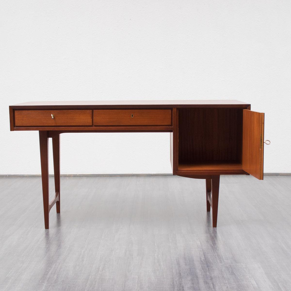 deutscher mid century schreibtisch 1960er bei pamono kaufen. Black Bedroom Furniture Sets. Home Design Ideas