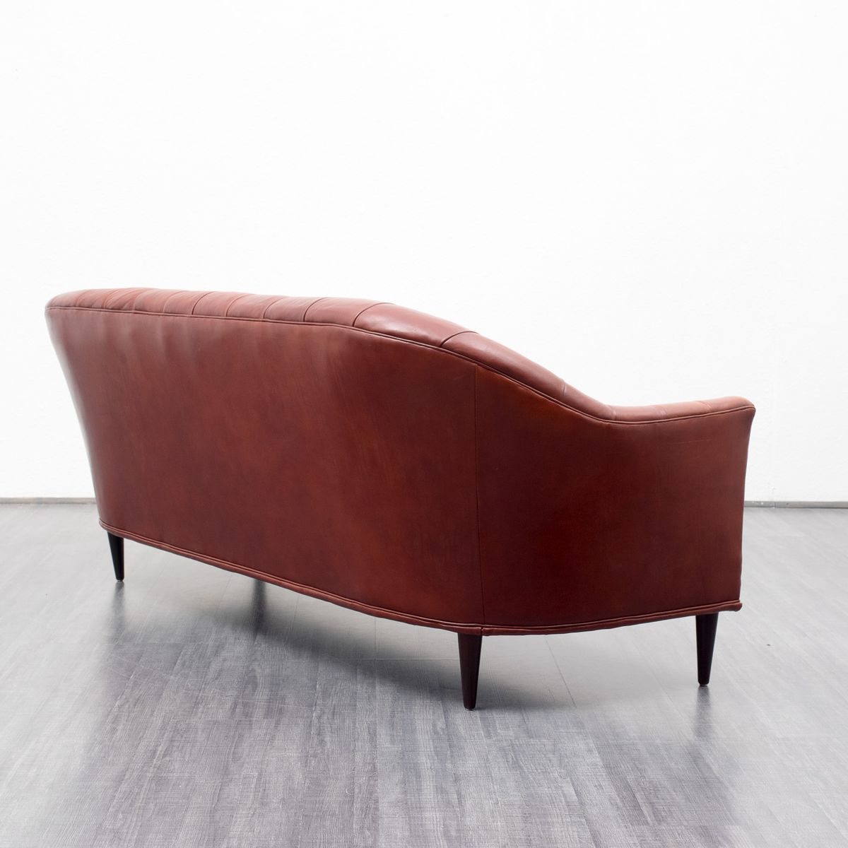 Mid century three seater leather sofa 1960s for sale at for Sofa 6 seater