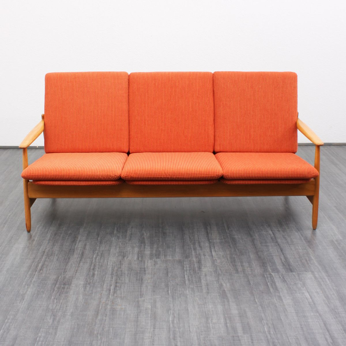 Orange Three Seater Sofa 1950s For Sale At Pamono