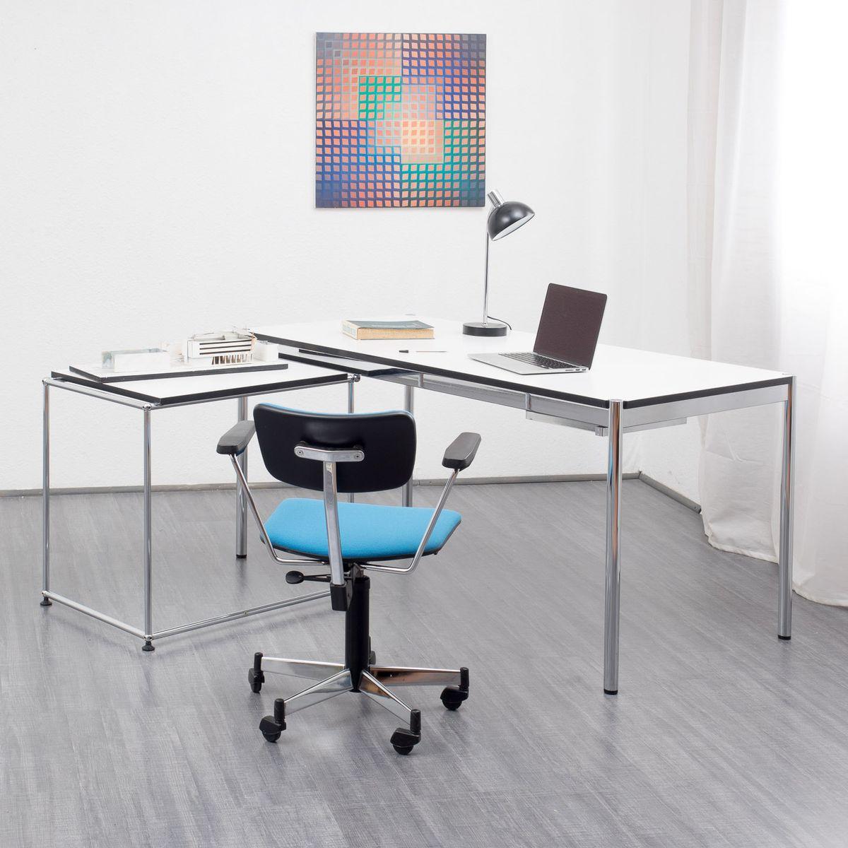 vintage desk by fritz haller paul sch rer for usm haller for sale at pamono. Black Bedroom Furniture Sets. Home Design Ideas