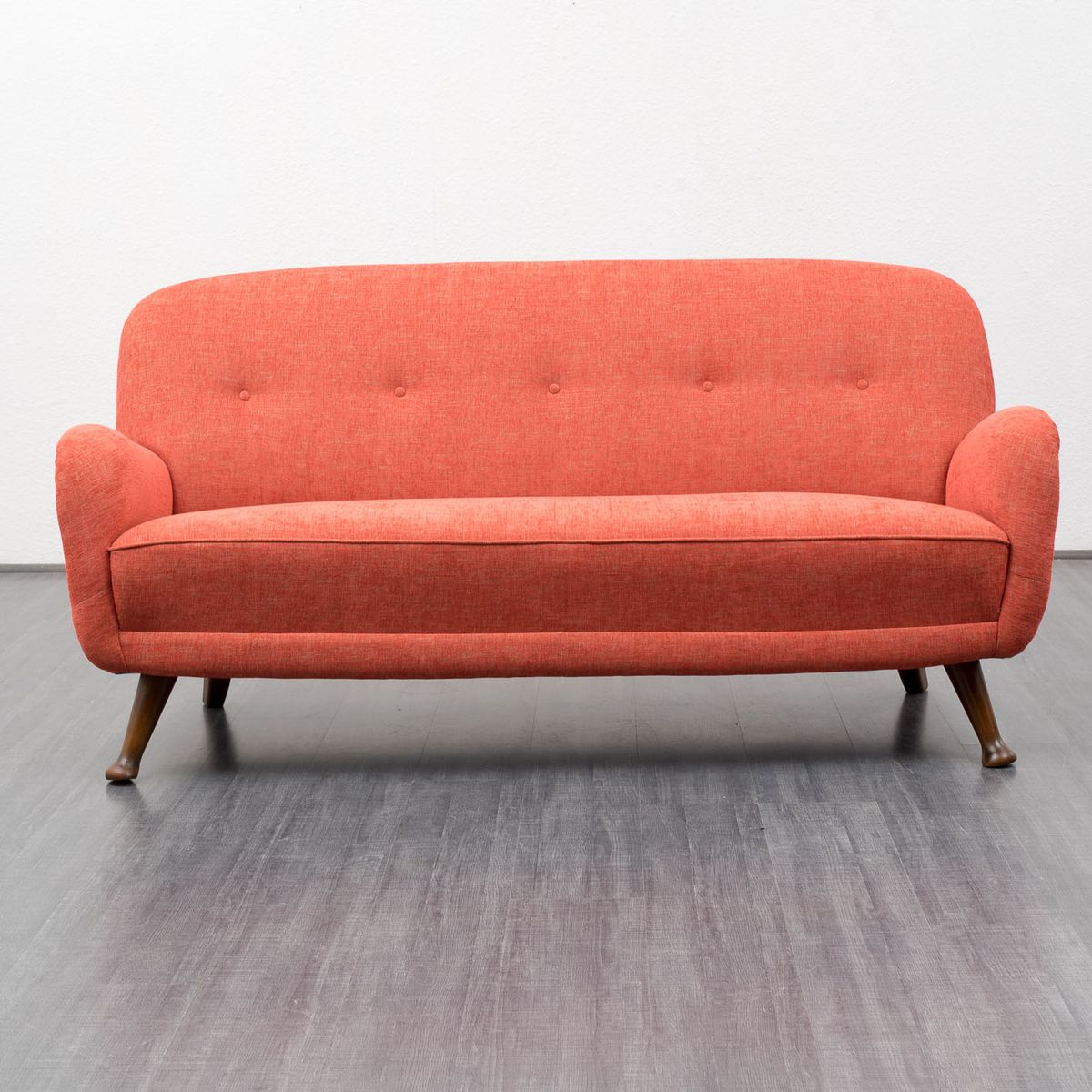 rotes mid century sofa deutschland 1950er bei pamono kaufen. Black Bedroom Furniture Sets. Home Design Ideas