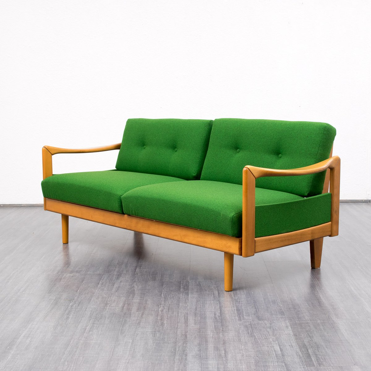 vintage green sofa 1960s for sale at pamono. Black Bedroom Furniture Sets. Home Design Ideas