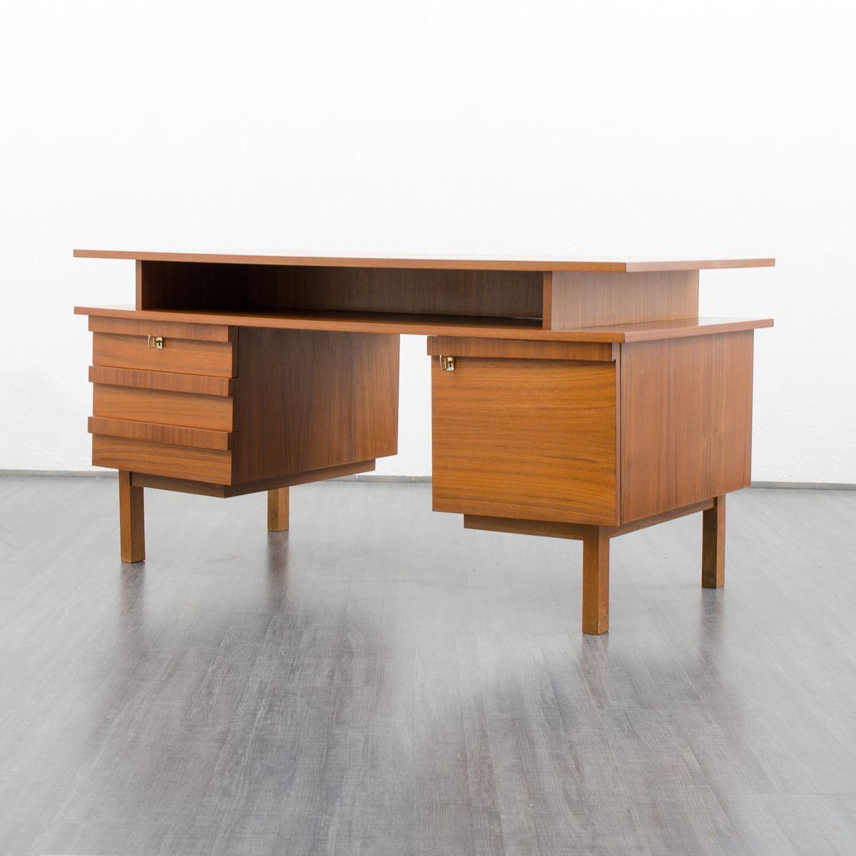 kubischer mid century schreibtisch deutschland 1960er bei pamono kaufen. Black Bedroom Furniture Sets. Home Design Ideas