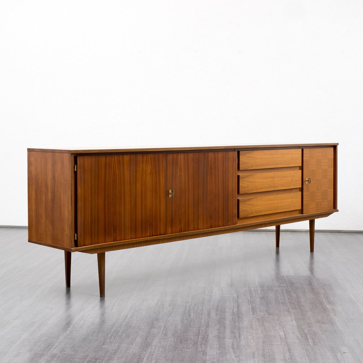 vintage walnut sideboard 1960s for sale at pamono. Black Bedroom Furniture Sets. Home Design Ideas