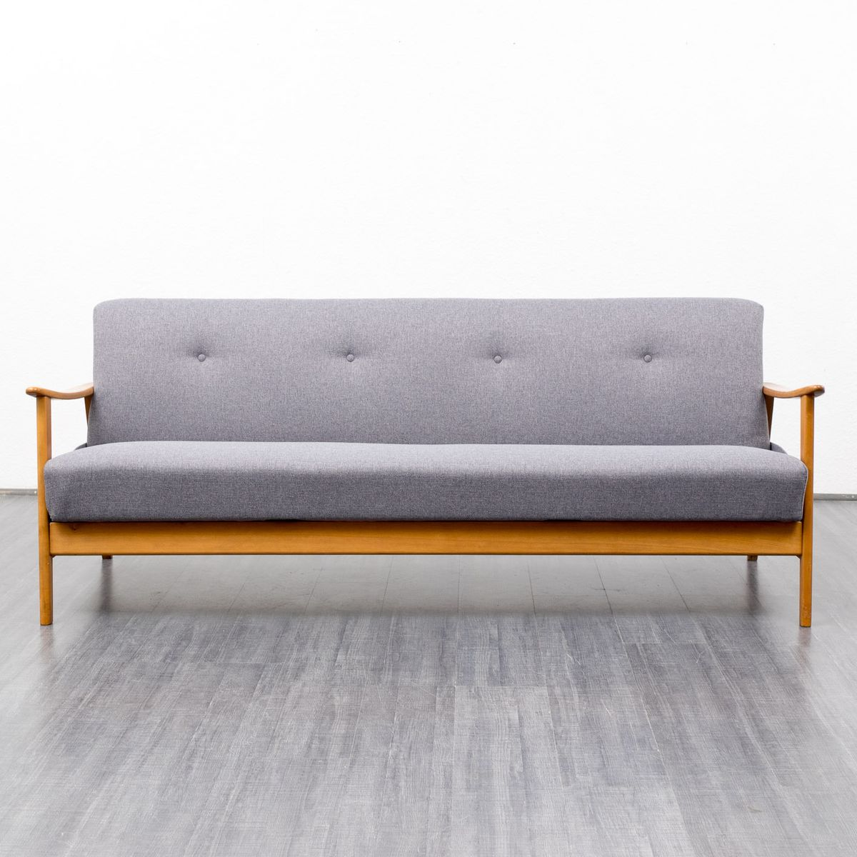 Grey fabric and beechwood sofa 1960s for sale at pamono for Grey sofas for sale