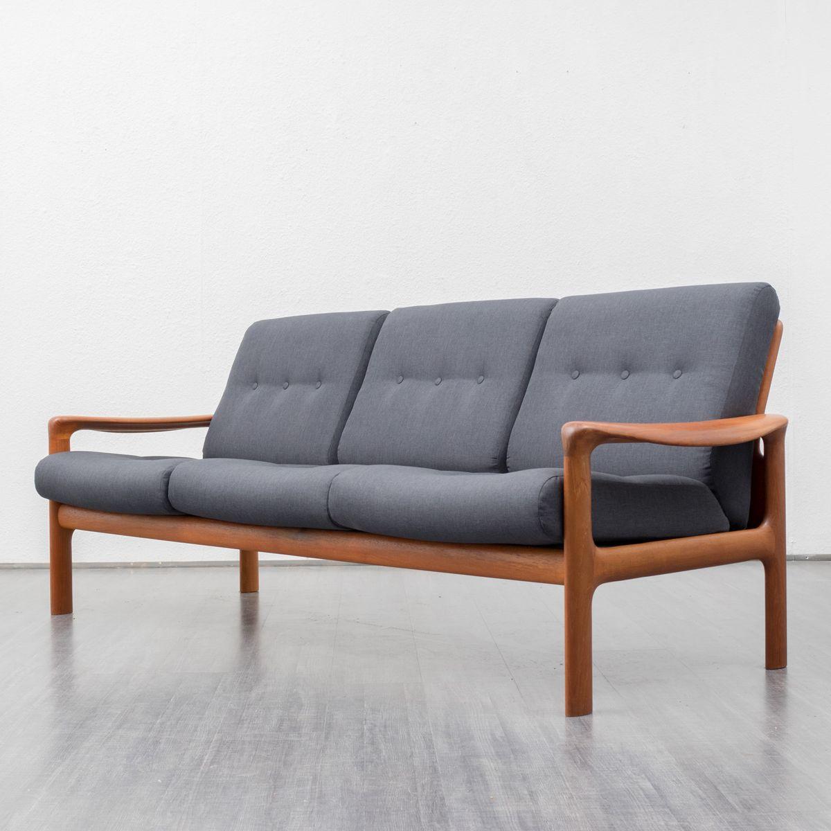 teak und anthrazit stoff sofa von comfort 1960er bei pamono kaufen. Black Bedroom Furniture Sets. Home Design Ideas