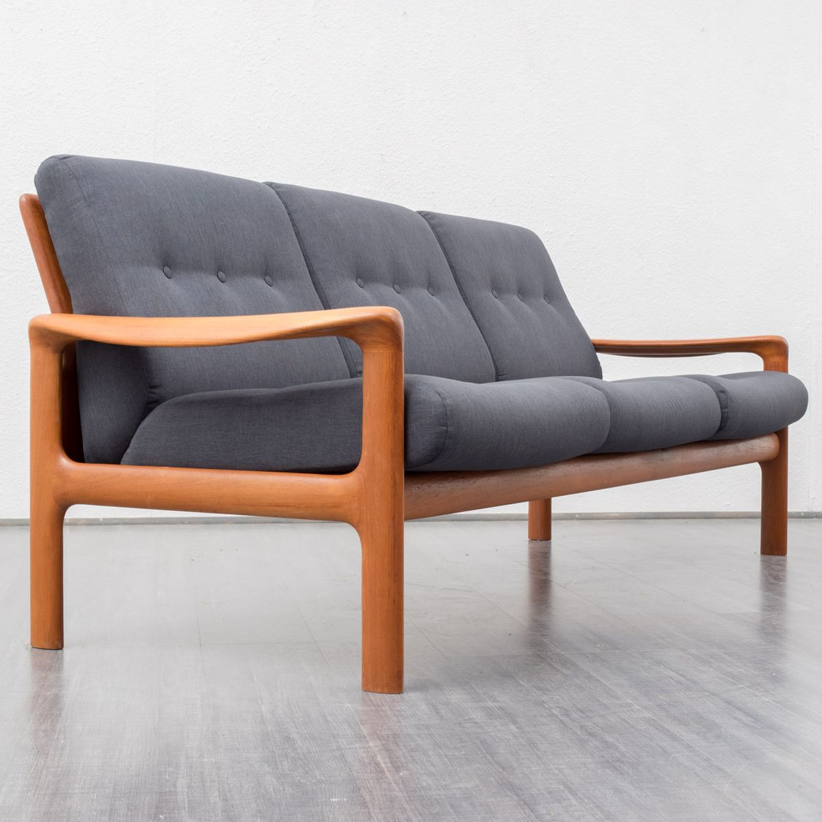 Teak and anthracite fabric sofa from comfort 1960s for sale at pamono - Sofa antraciet ...