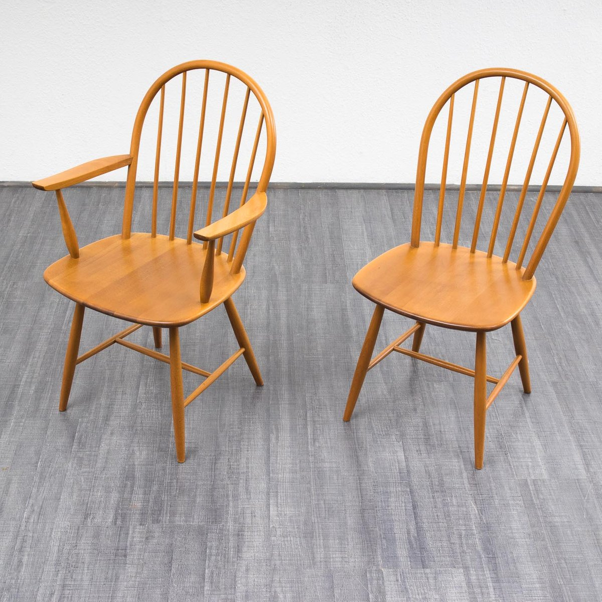 Vintage Beech Wood Dining Chairs Set Of 4 For Sale At Pamono