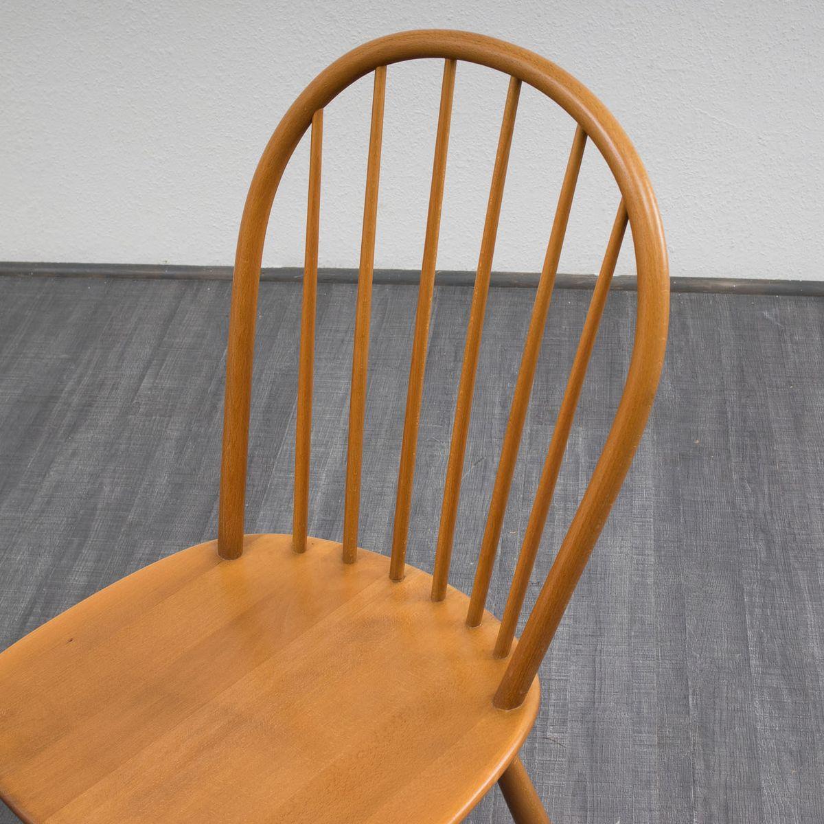 vintage buchenholz esszimmerst hle 4er set bei pamono kaufen. Black Bedroom Furniture Sets. Home Design Ideas