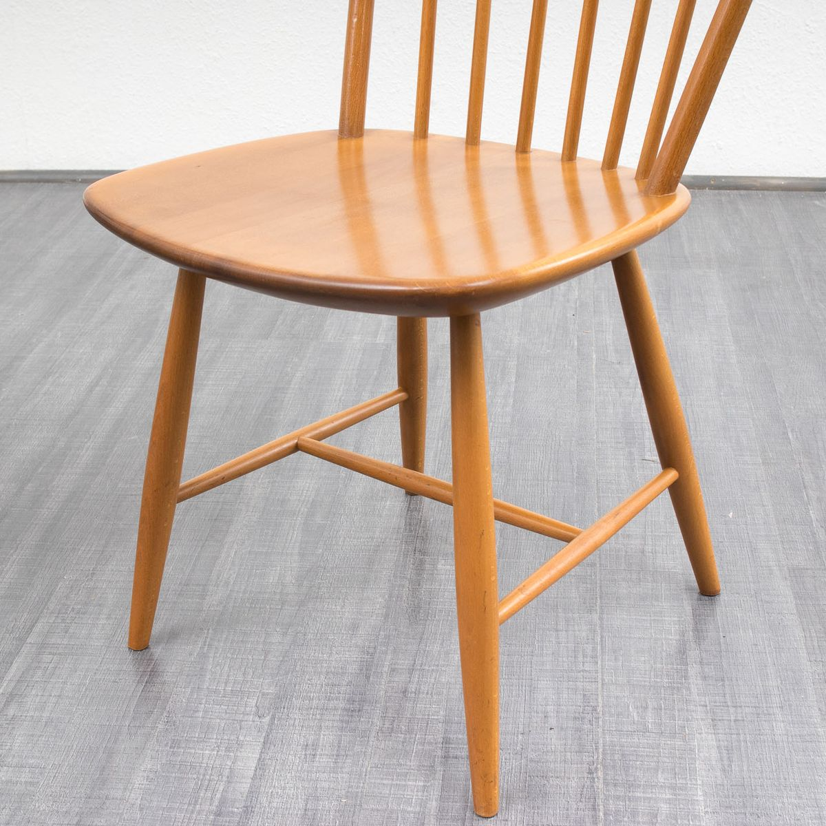 Vintage beech wood dining chairs set of 4 15