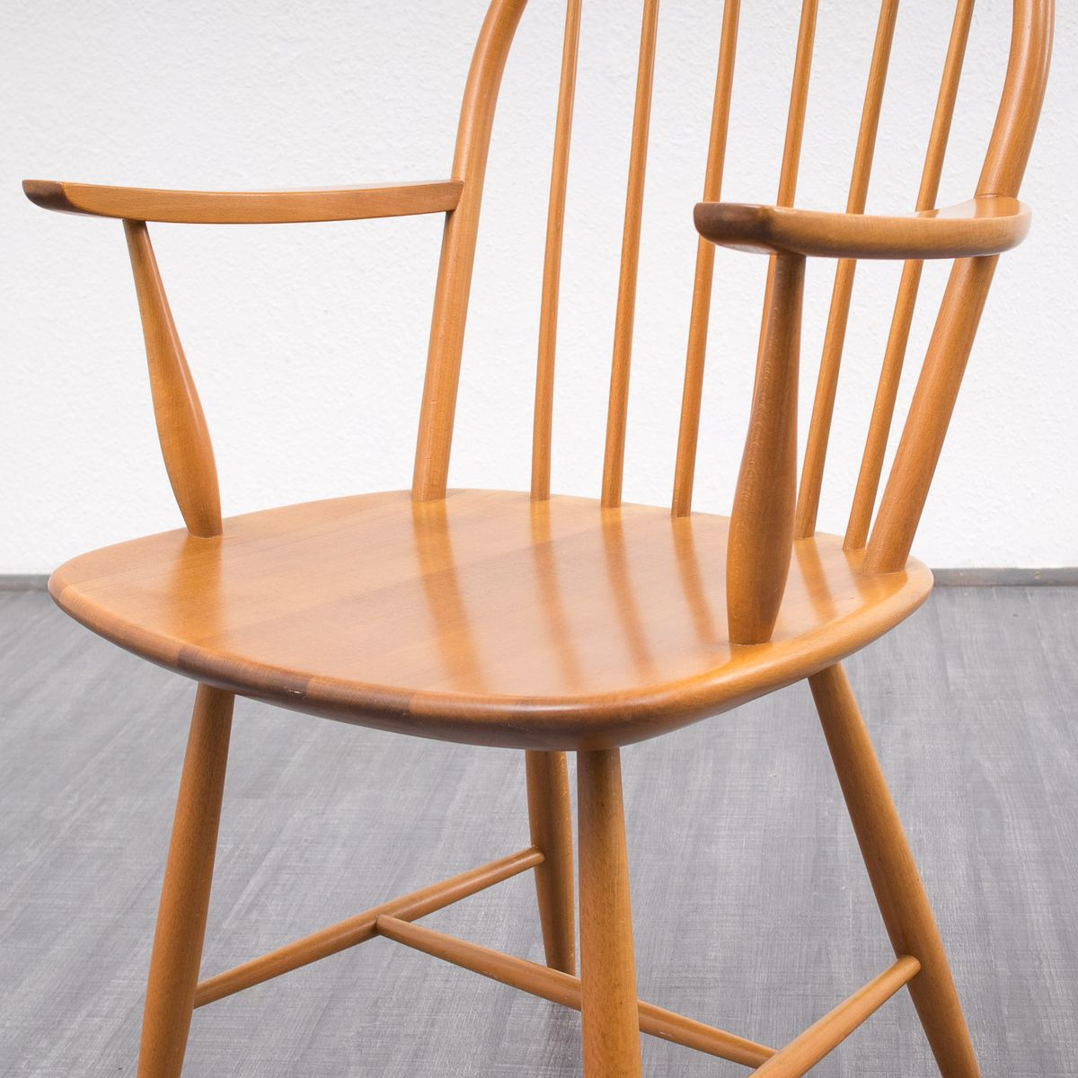 Vintage beech wood dining chairs set of 4 5