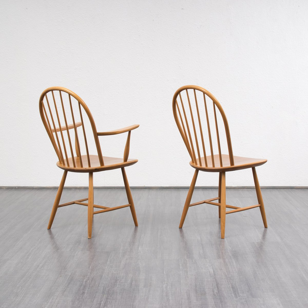Set Of 4 Dining Chairs ~ Vintage beech wood dining chairs set of for sale at pamono
