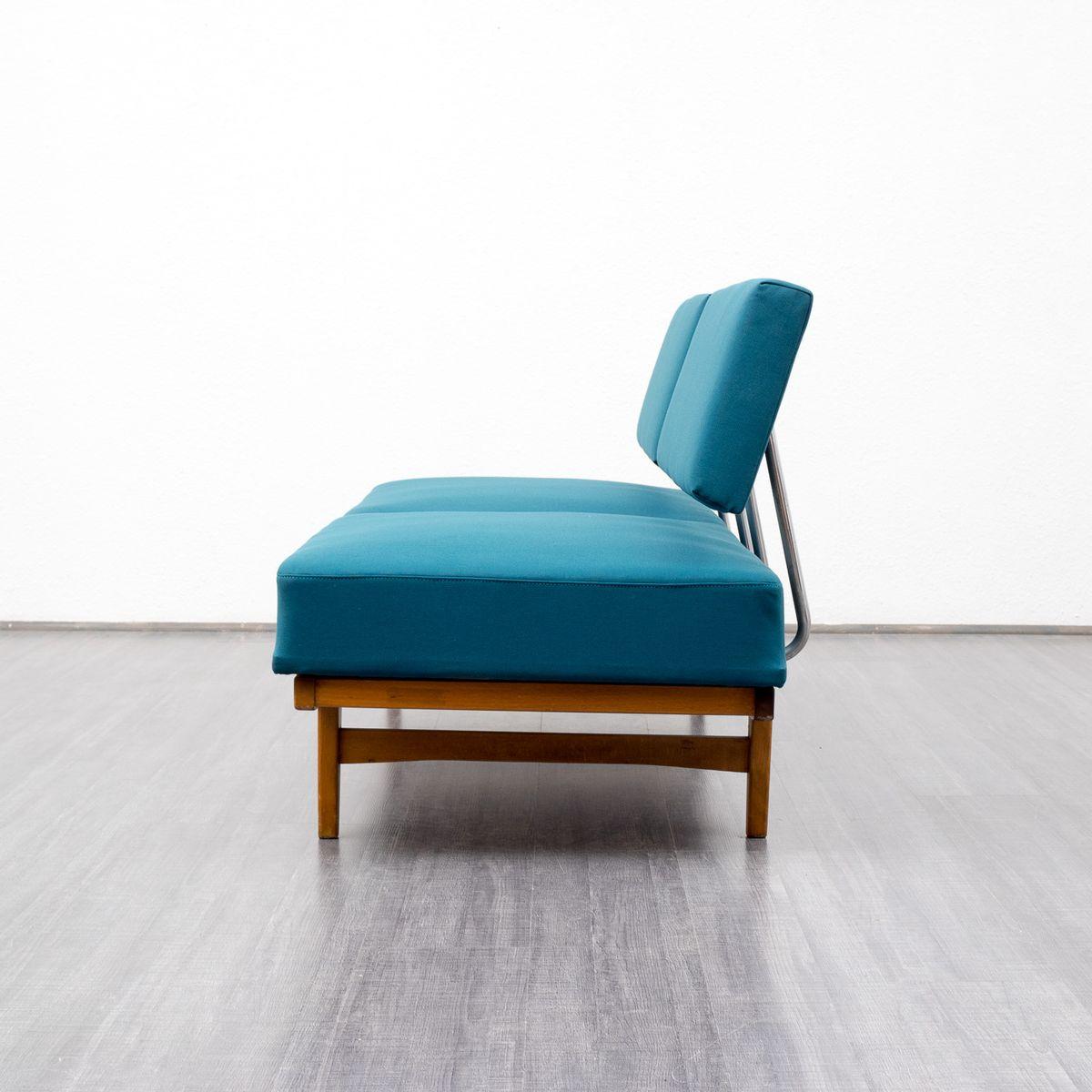 petrol blaue mid century liege bei pamono kaufen. Black Bedroom Furniture Sets. Home Design Ideas