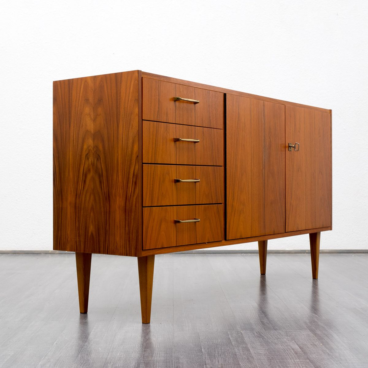 mid century german walnut sideboard for sale at pamono. Black Bedroom Furniture Sets. Home Design Ideas
