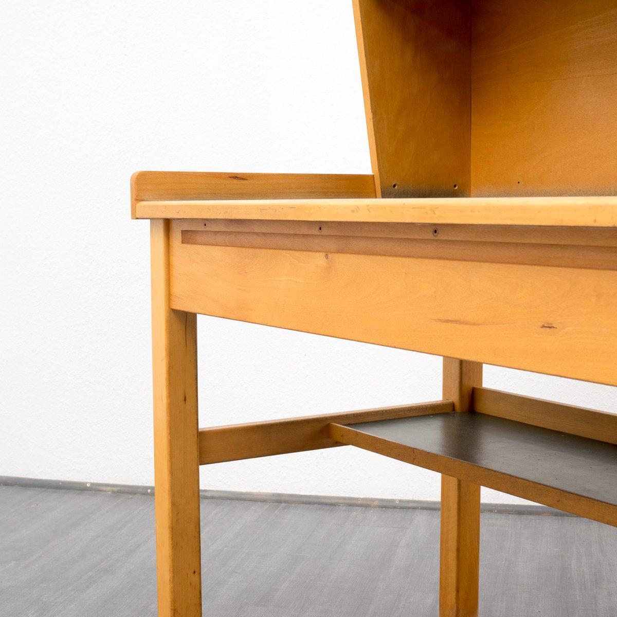 vintage buchenholz schreibtisch 1960er bei pamono kaufen. Black Bedroom Furniture Sets. Home Design Ideas