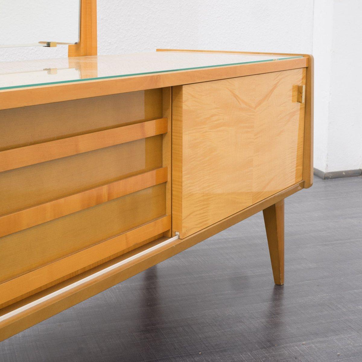 verspiegelte vintage kommode mit ahornfurnier bei pamono kaufen. Black Bedroom Furniture Sets. Home Design Ideas