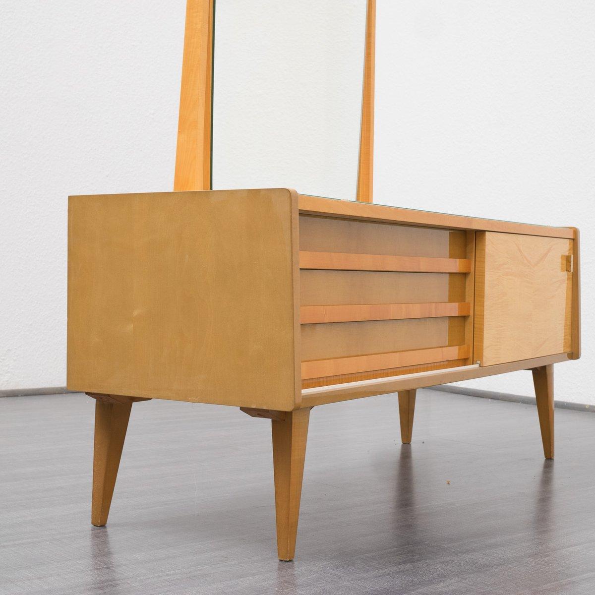 verspiegelte vintage kommode mit ahornfurnier bei pamono. Black Bedroom Furniture Sets. Home Design Ideas