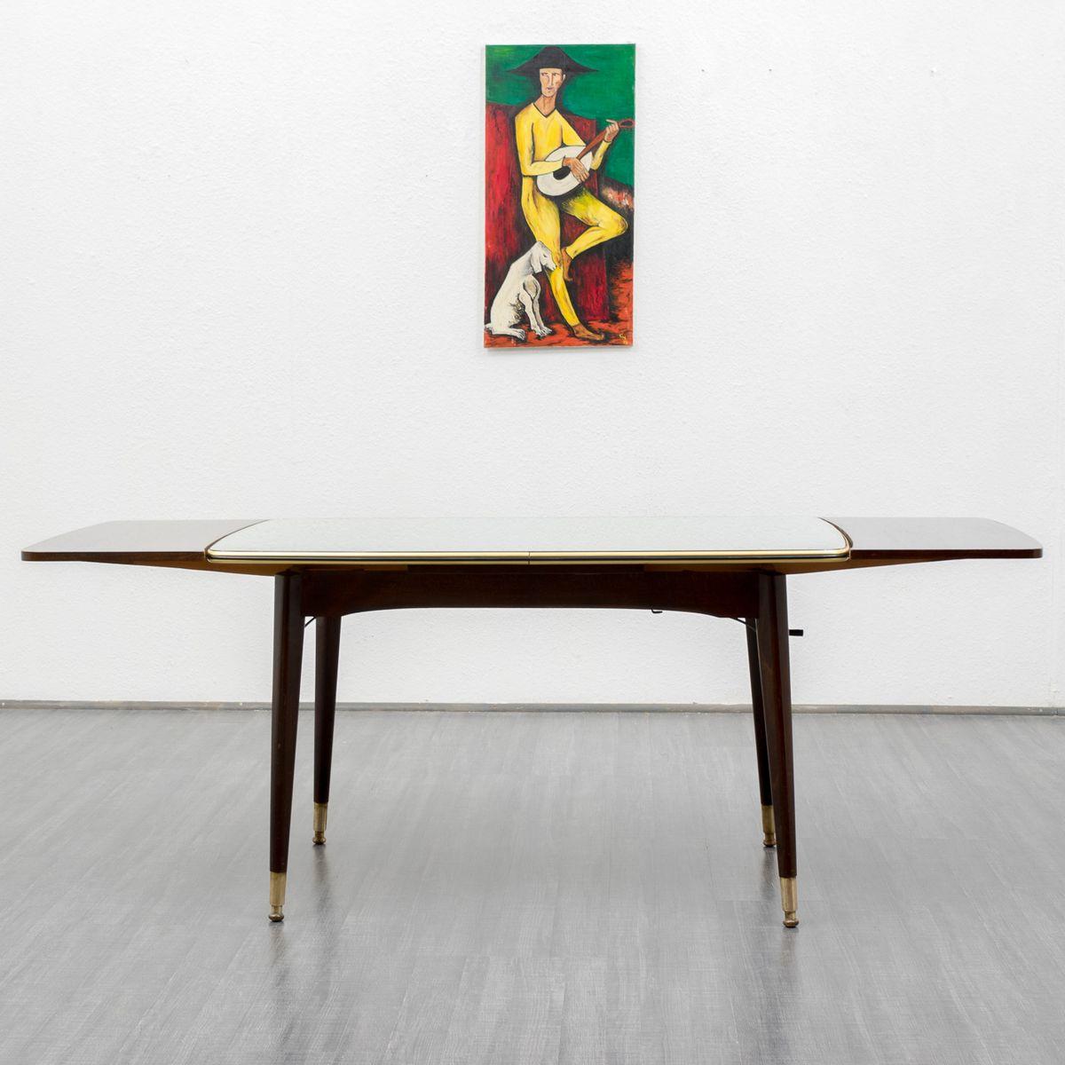table basse vintage avec surface miroir 1950 en vente sur pamono. Black Bedroom Furniture Sets. Home Design Ideas