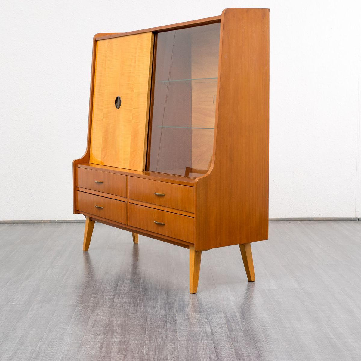 Sale 1950s Kitchen Cabinets: Maple And Makore Cabinet, 1950s For Sale At Pamono