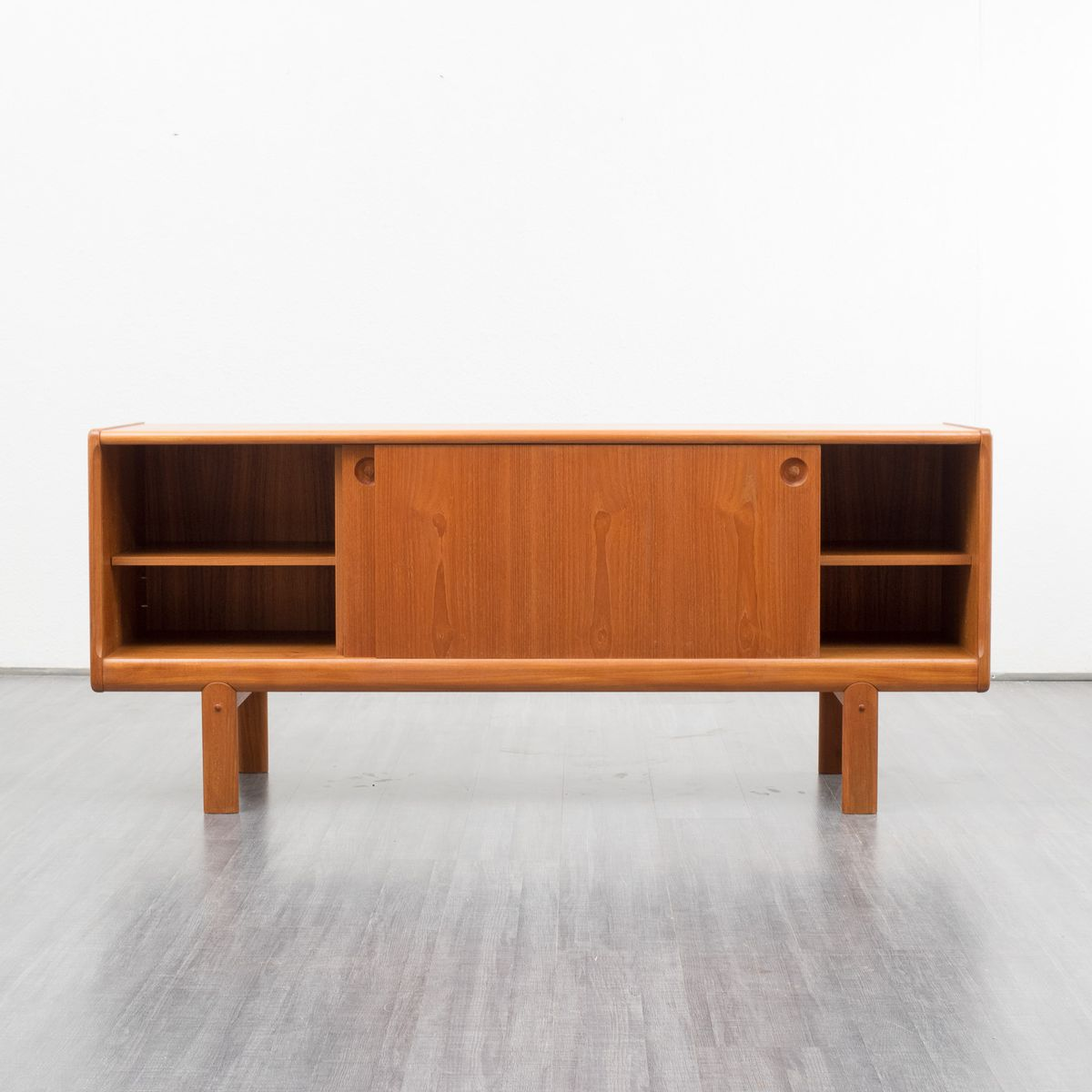 Scandinavian teak sideboard with sliding doors 1960s for for Sideboard x7