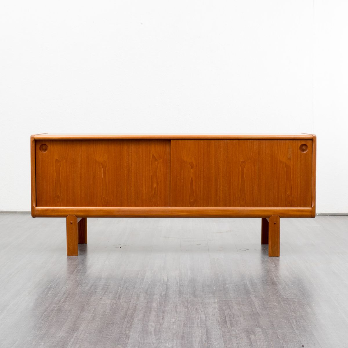 Scandinavian teak sideboard with sliding doors 1960s for for Sideboard scandi