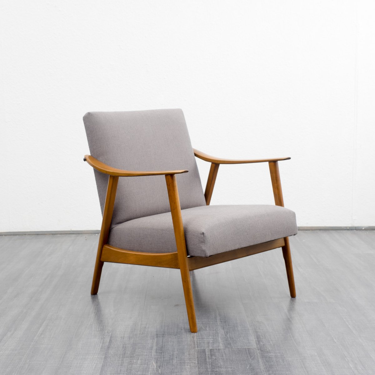 Eames Style Chairs Mid Century Beech Wood Armchair for sale at Pamono