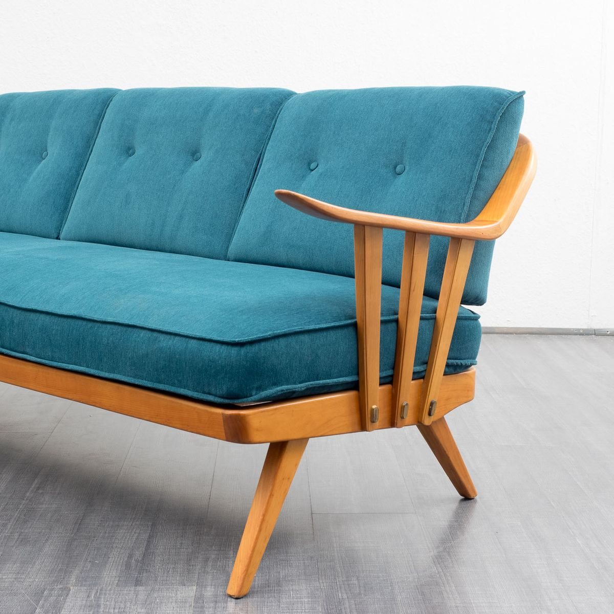mid century cherrywood sofa from knoll antimott for sale at pamono. Black Bedroom Furniture Sets. Home Design Ideas