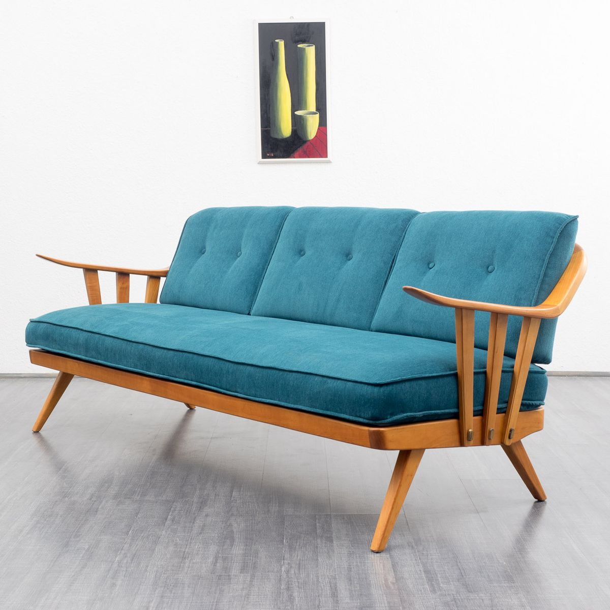 mid century kirschholz sofa von knoll antimott bei pamono kaufen. Black Bedroom Furniture Sets. Home Design Ideas