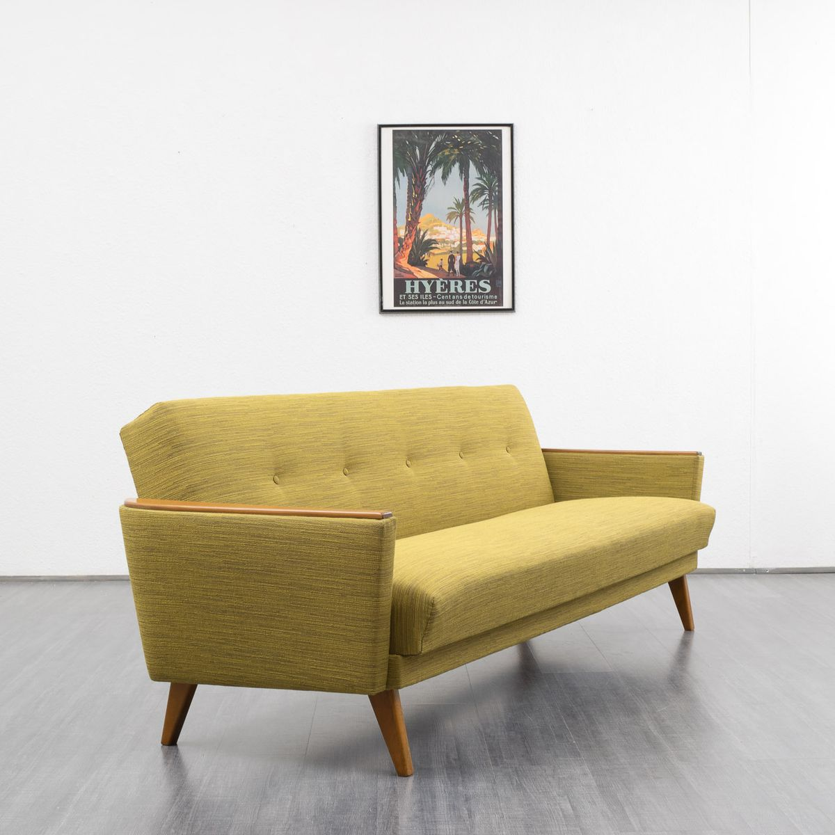 mid century folding couch 1960s for sale at pamono. Black Bedroom Furniture Sets. Home Design Ideas