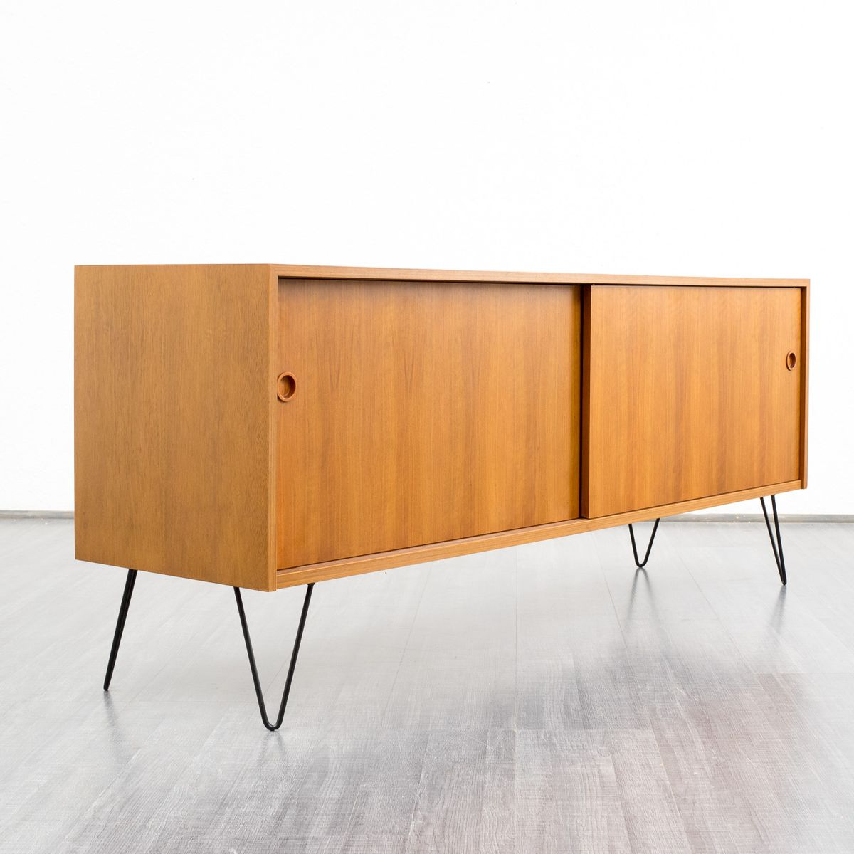 walnut sideboard with sliding doors 1960s for sale at pamono. Black Bedroom Furniture Sets. Home Design Ideas