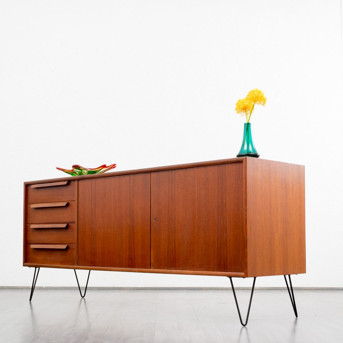 Vintage sideboard with hairpin legs 1960s for sale at pamono for Sideboard 70 cm