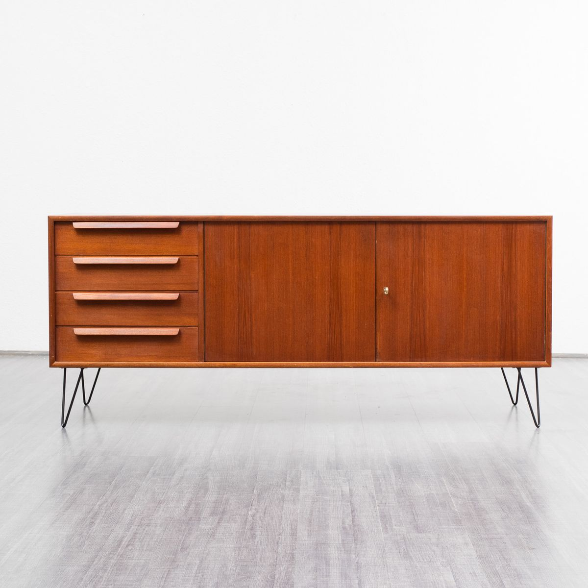 vintage sideboard with hairpin legs 1960s for sale at pamono. Black Bedroom Furniture Sets. Home Design Ideas