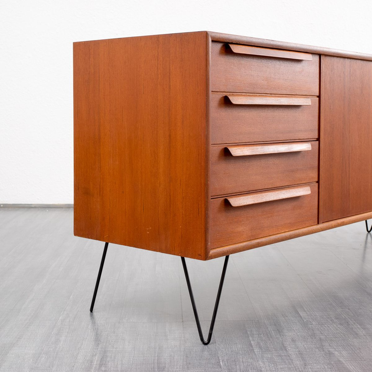 Vintage sideboard with hairpin legs 1960s for sale at pamono for Sideboard x7