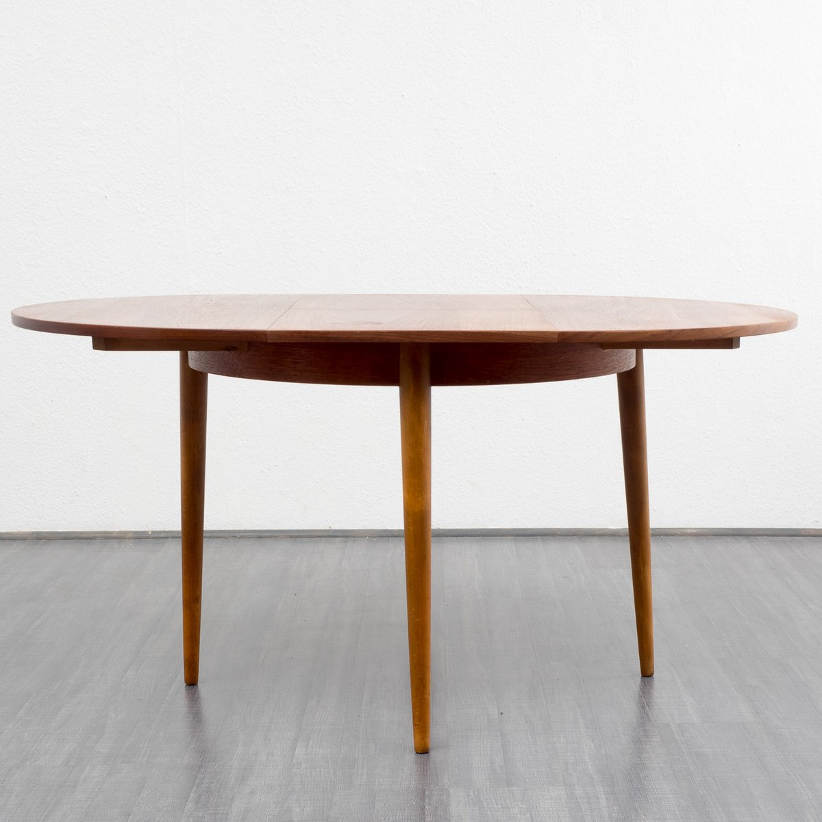 Vintage Round Teak Dining Table 1960s For Sale At Pamono