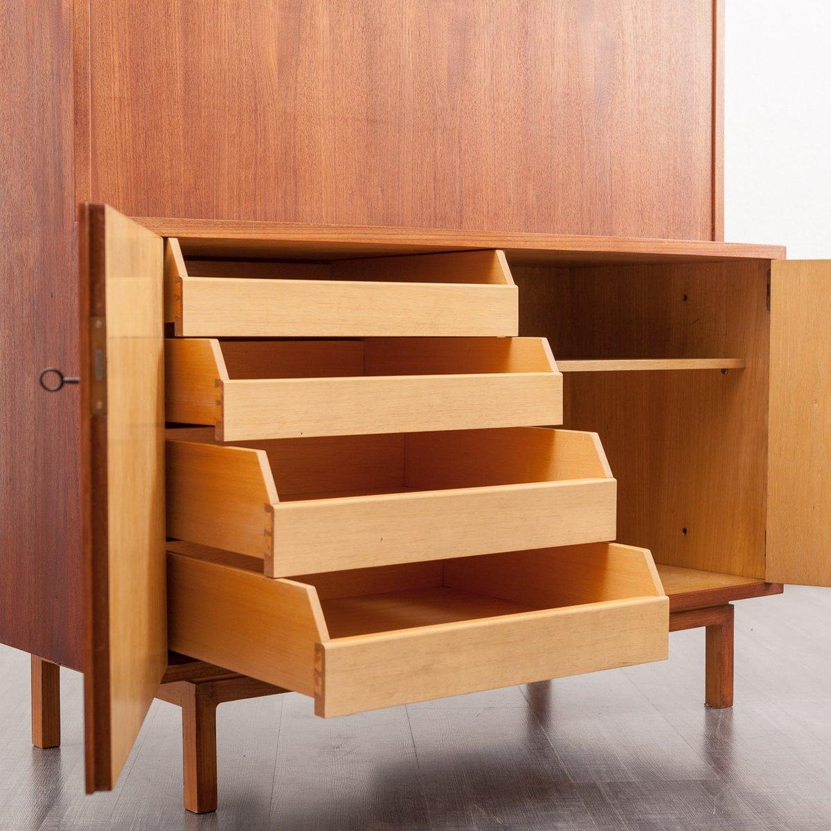 kubischer teak sekret r 1960er bei pamono kaufen. Black Bedroom Furniture Sets. Home Design Ideas