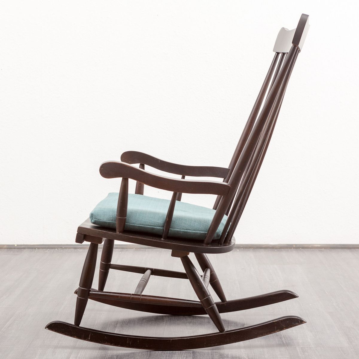 Wood Rocking Chair, 1960s for sale at Pamono