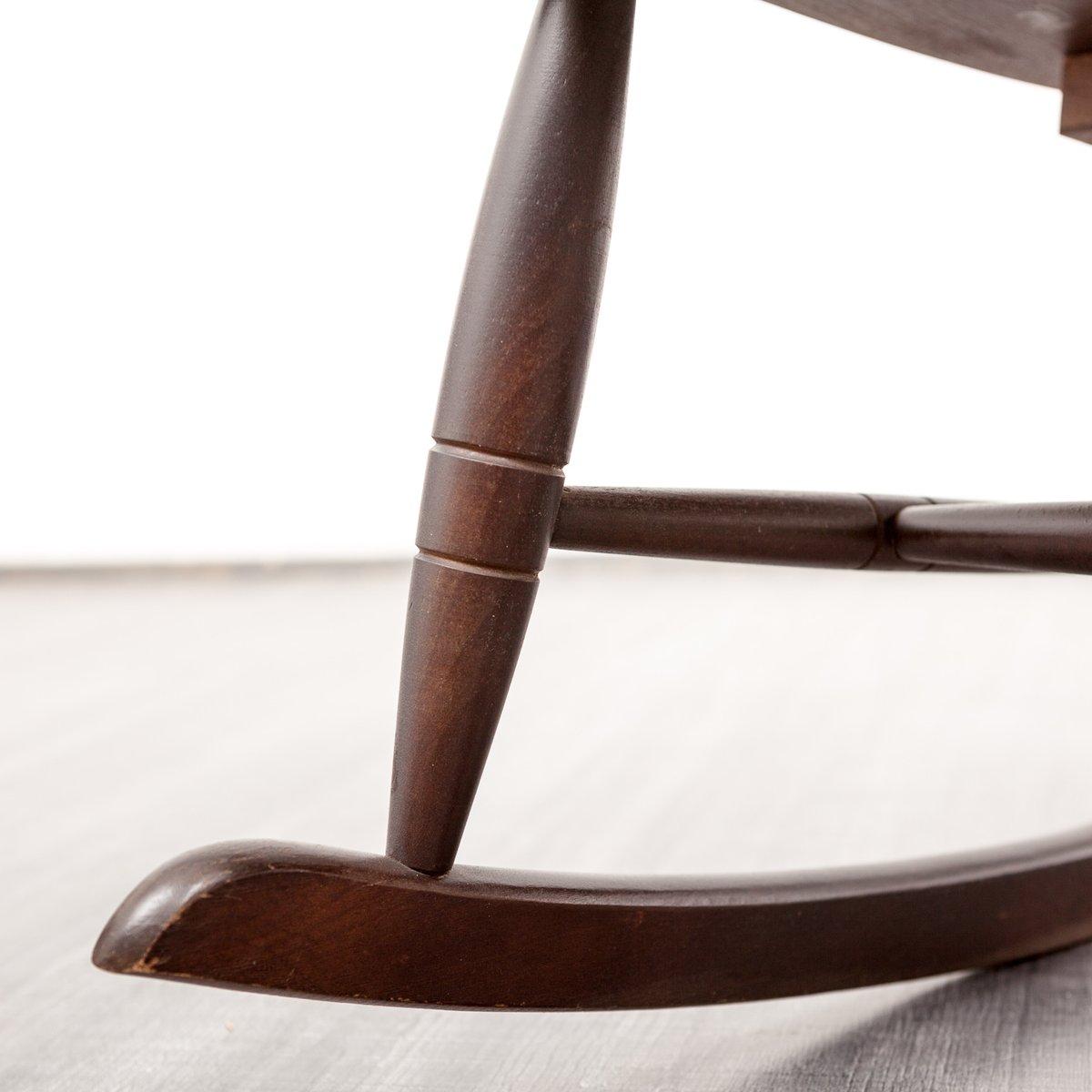 holz schaukelstuhl 1960er. Black Bedroom Furniture Sets. Home Design Ideas