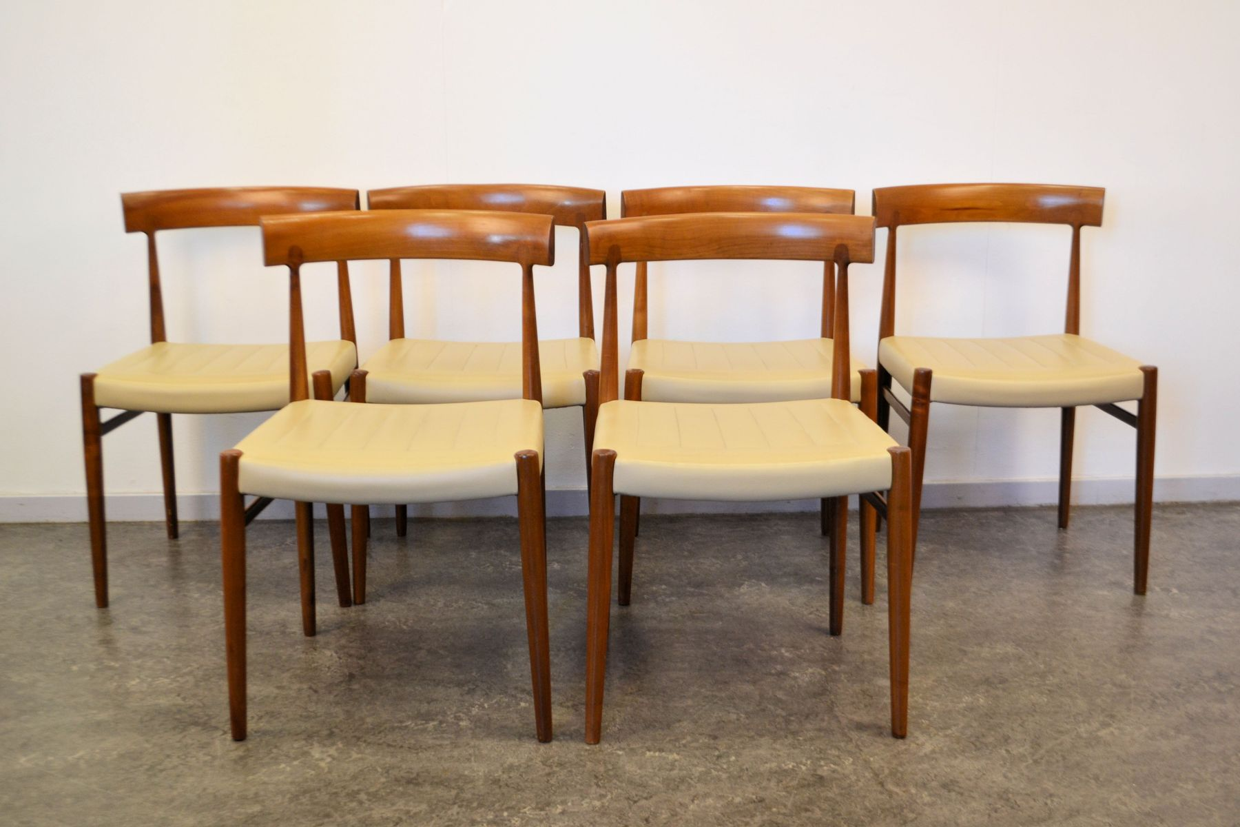 danish dining chairs set of 6 for sale at pamono