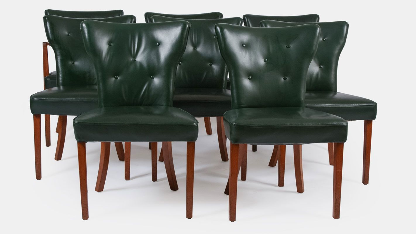Leather dining chairs - Antique Leather Dining Chairs From Heal S Set Of 8