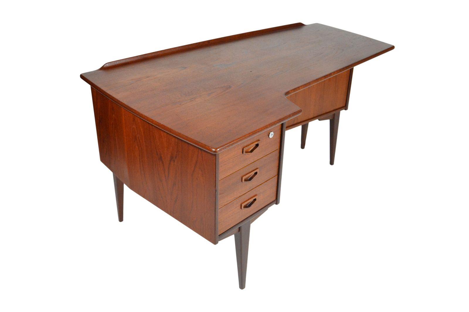 teak schreibtisch von arne vodder 1950er bei pamono kaufen. Black Bedroom Furniture Sets. Home Design Ideas