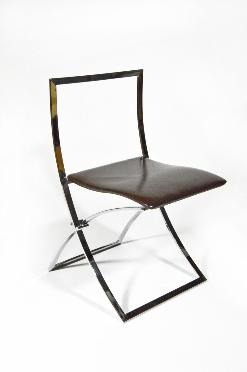 Luisa Folding Chairs by Marcello Cuneo for Mobel 1970 Set of 4 for sale at