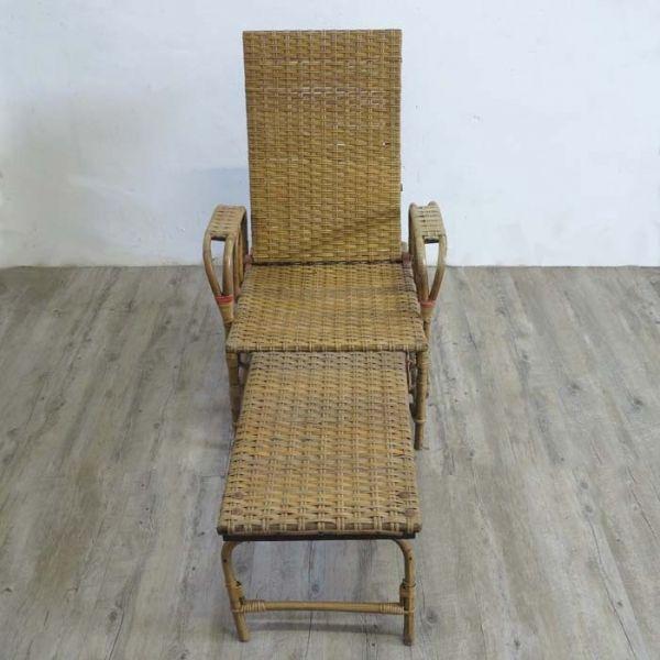 gartenliege aus rattan von erich dieckmann 1930er bei pamono kaufen. Black Bedroom Furniture Sets. Home Design Ideas