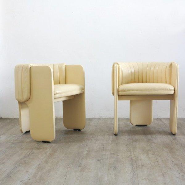 vintage sessel mit hockern von poltrona frau 1970er 6er set bei pamono kaufen. Black Bedroom Furniture Sets. Home Design Ideas