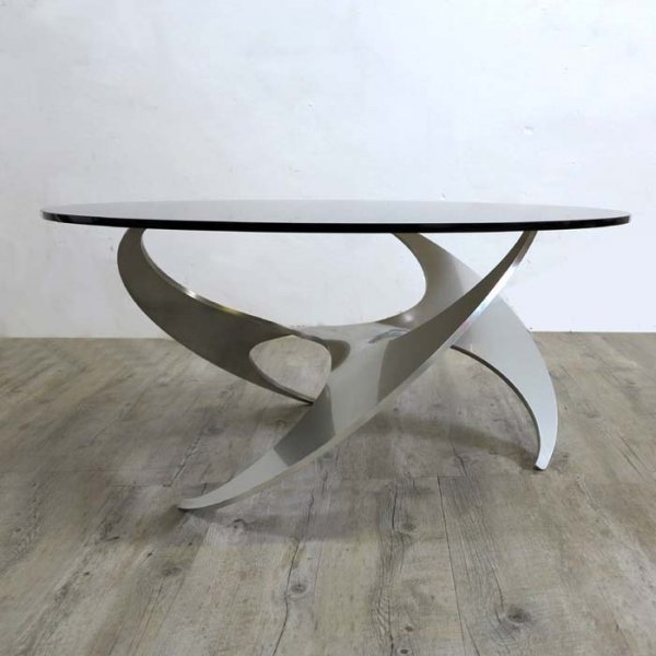 Propeller Glass Coffee Table By Knut Hesterberg For Ronald