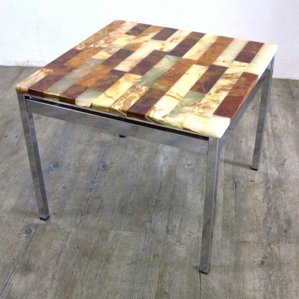 Vintage tisch mit marmorplatte 1970er bei pamono kaufen for Tisch mit marmorplatte