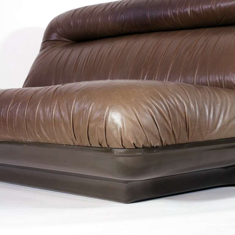 leather sofa by gerd lange 1970s for sale at pamono. Black Bedroom Furniture Sets. Home Design Ideas