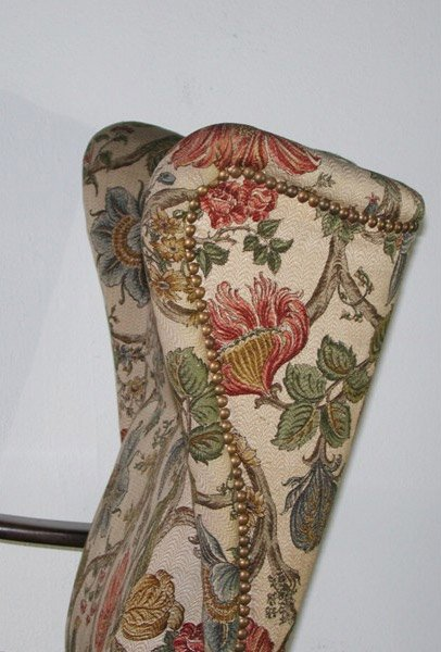 chaise wing floral art nouveau 1900 en vente sur pamono. Black Bedroom Furniture Sets. Home Design Ideas